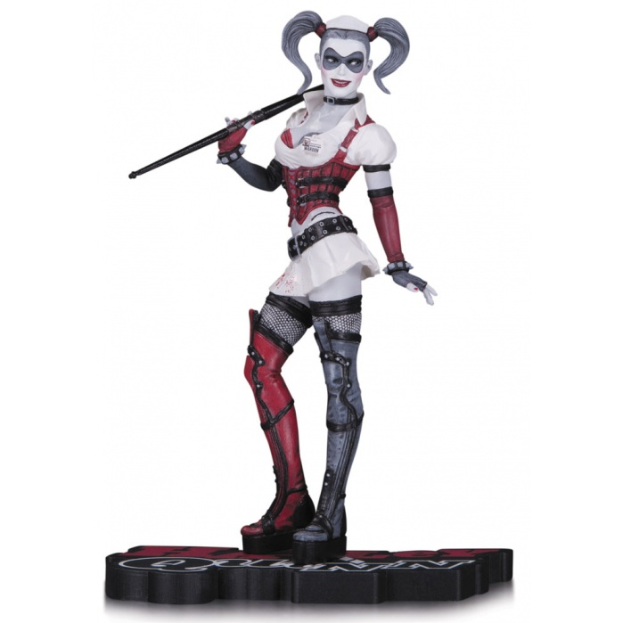 Harley Quinn Red, White & Black Statue Arkham Asylum DC Collectibles Product