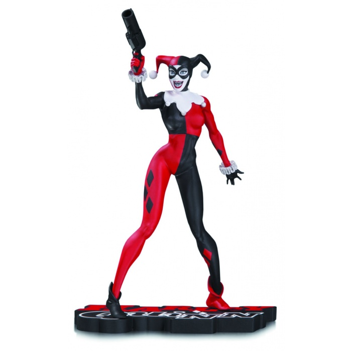 Harley Quinn Red, White & Black Statue by Jim Lee 17 cm DC Collectibles Product
