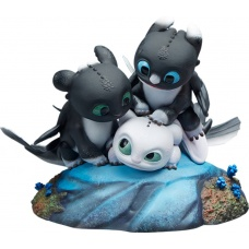 How to Train Your Dragon: Dart with Pouncer and Ruffrunner Statue | Sideshow Collectibles