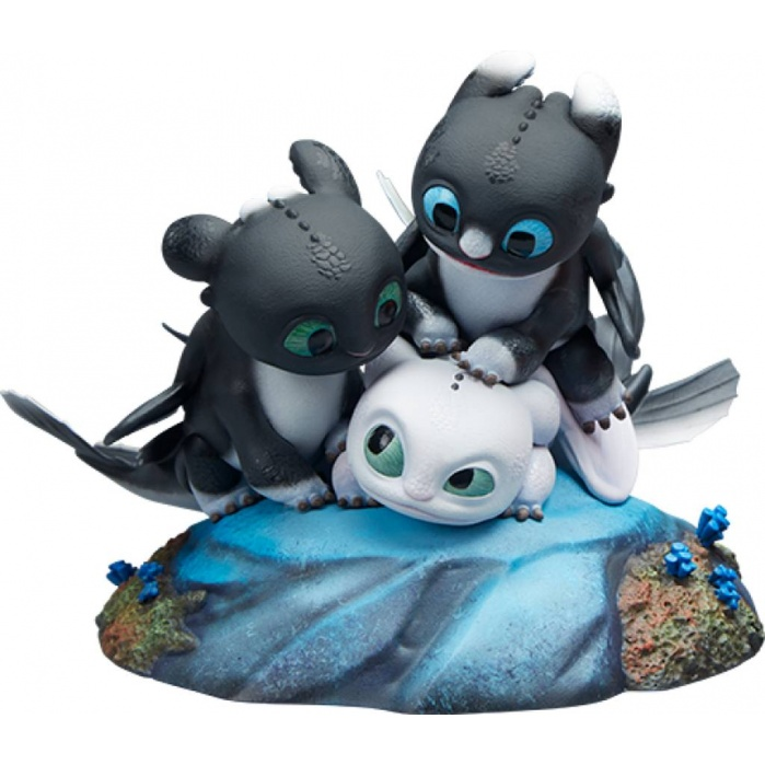 How to Train Your Dragon: Dart with Pouncer and Ruffrunner Statue Sideshow Collectibles Product