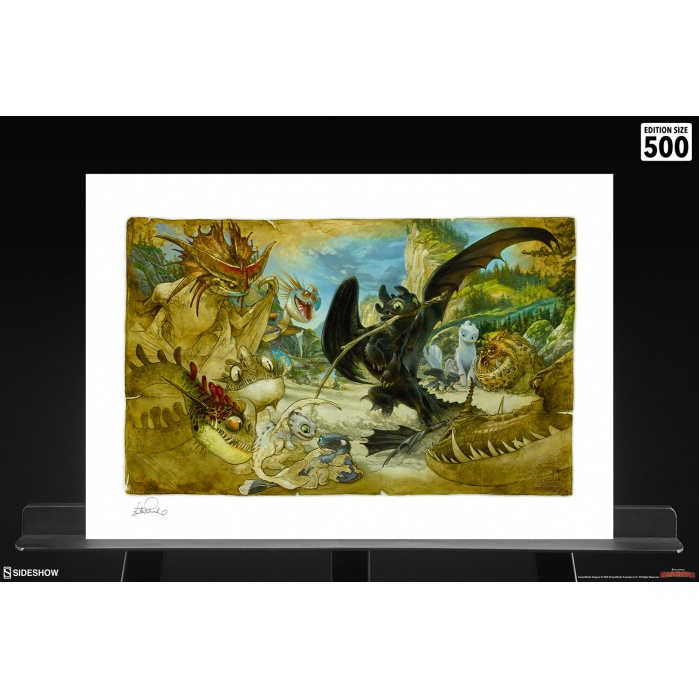 How to Train Your Dragon: How to Draw Your Dragon Unframed Art Print Sideshow Collectibles Product