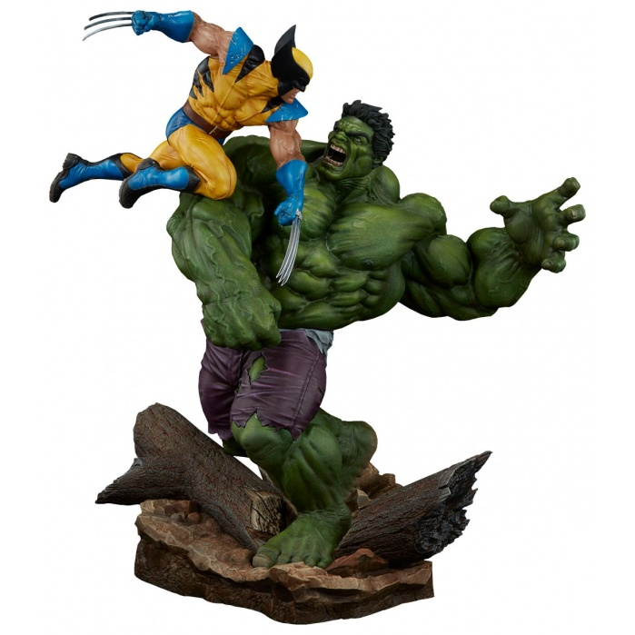 Hulk vs. Wolverine Maquette Sideshow Collectibles Product