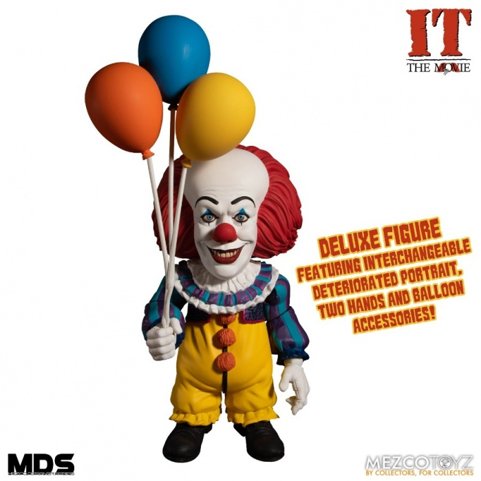 IT 1990: Deluxe Pennywise 6 inch Action Figure Mezco Toyz Product