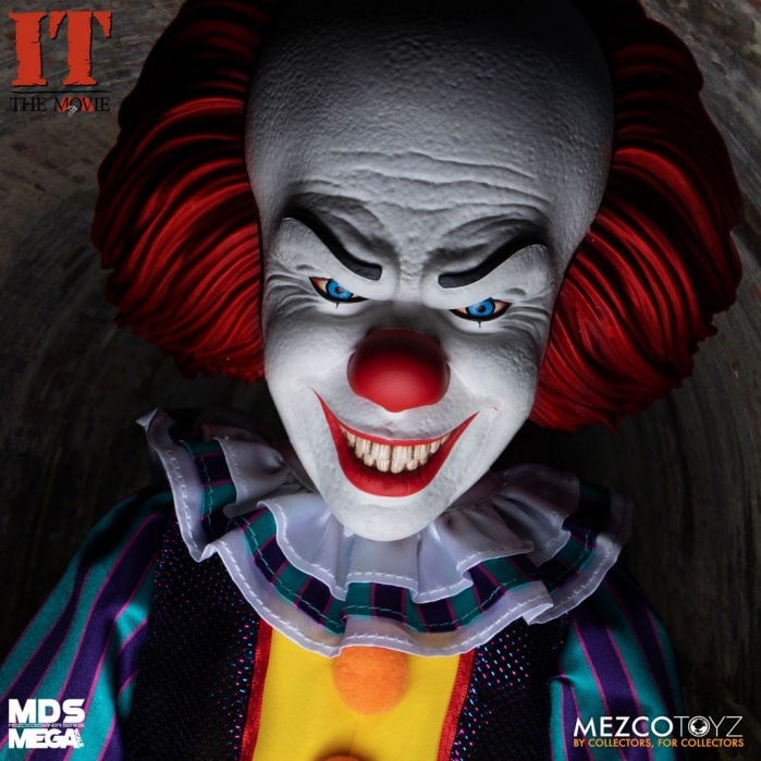 IT 1990: Mega Scale Talking Pennywise 15 inch Action Figure Mezco Toyz Product