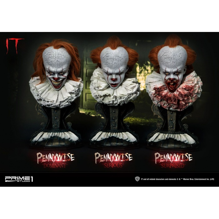 It 2017 Busts 3-Pack 1/2 Pennywise Prime 1 Studio Product