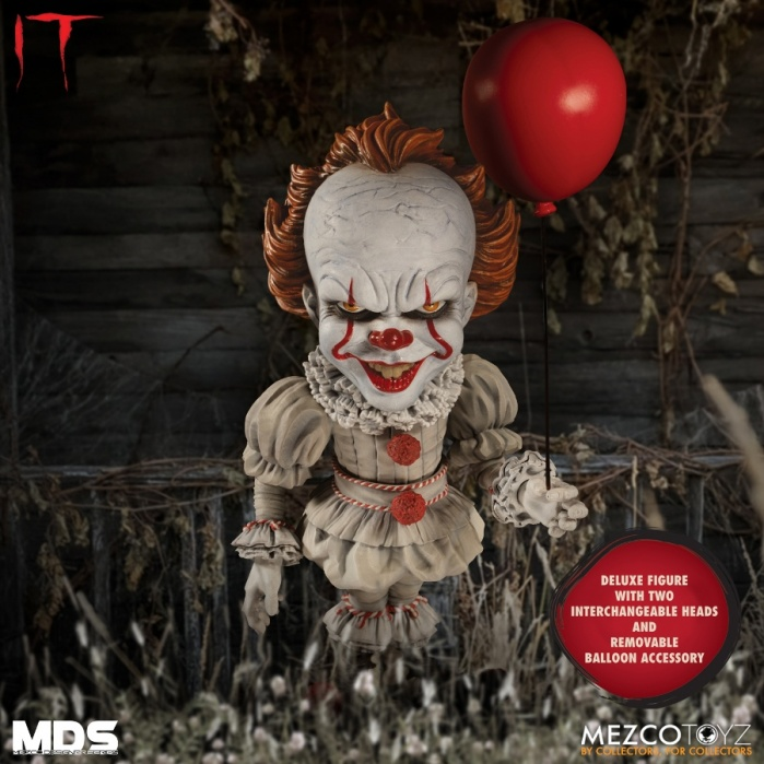 IT: Designer Series - Deluxe Pennywise 6 inch Action Figure Mezco Toyz Product