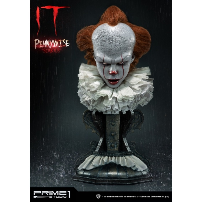 IT: Pennywise Serious 1:2 Scale Bust Prime 1 Studio Product