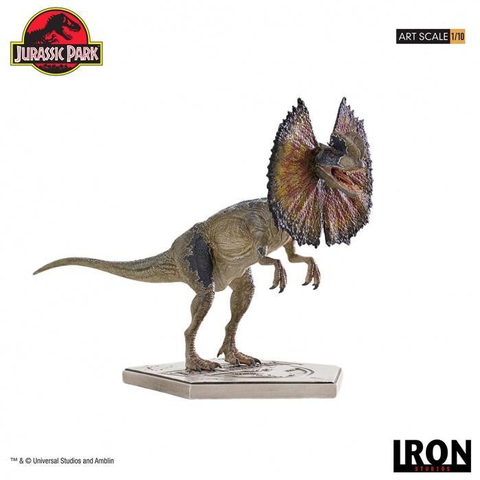 Jurassic Park: Dilophosaurus 1:10 Scale Statue Iron Studios Product