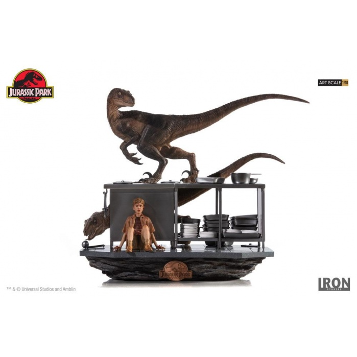 Jurassic Park  Diorama 1/10 Velociraptors in the Kitchen Iron Studios Product
