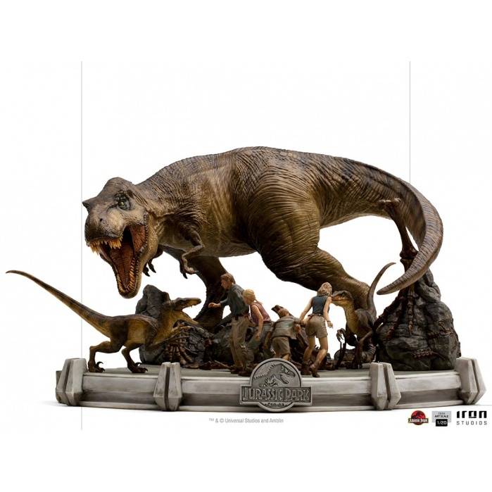 Jurassic Park: The Final Scene 1:20 Scale Diorama Iron Studios Product