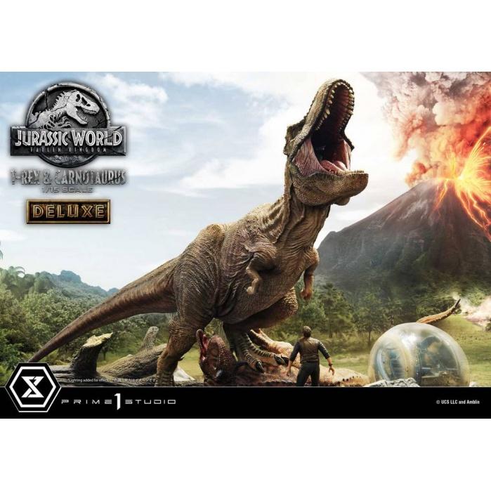Jurassic World: Fallen Kingdom - Deluxe T-Rex and Carnotaurus 1:15 Scale Statue Prime 1 Studio Product