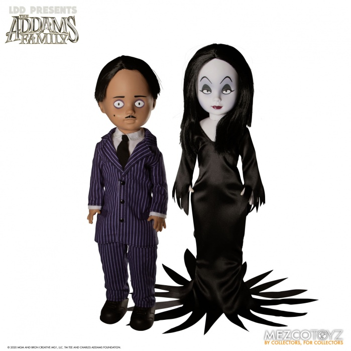 Living Dead Dolls: The Addams Family - Gomez and Morticia Action Figure Set Mezco Toyz Product