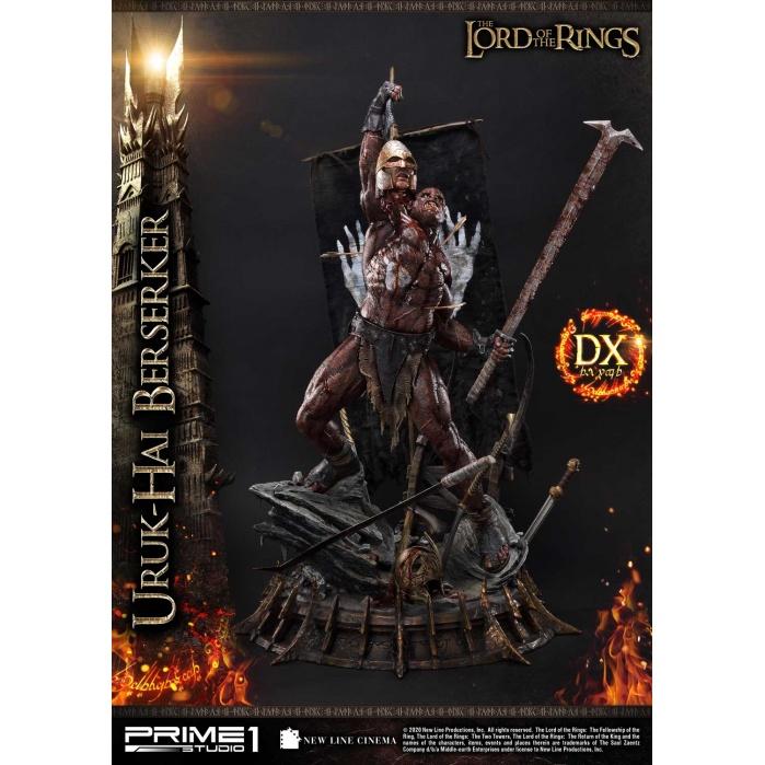 Lord of the Rings: Deluxe Uruk-hai Berserker 1:4 Scale Statue Prime 1 Studio Product