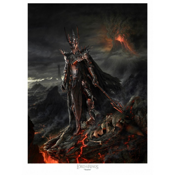 Lord of the Rings: Sauron Variant Unframed Art Print Small Size Sideshow Collectibles Product