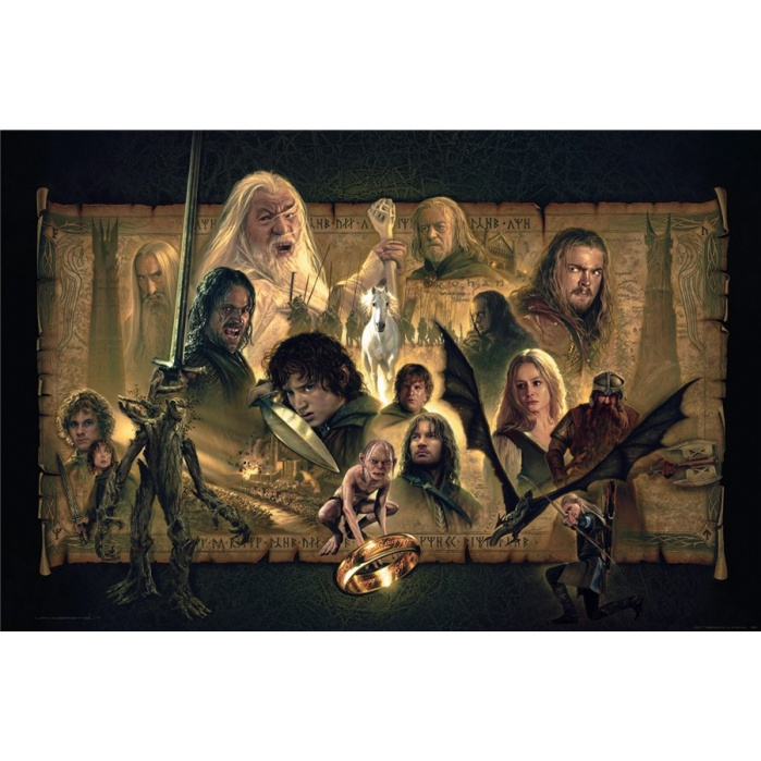 Lord of the Rings: The Two Towers Unframed Art Print Sideshow Collectibles Product