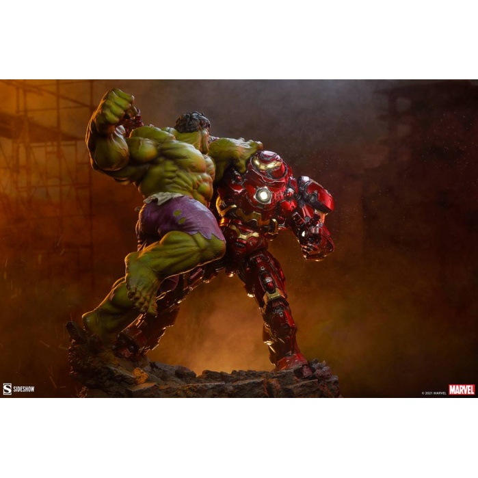 Marvel: Avengers Age of Ultron - Hulk vs Hulkbuster Maquette Sideshow Collectibles Product