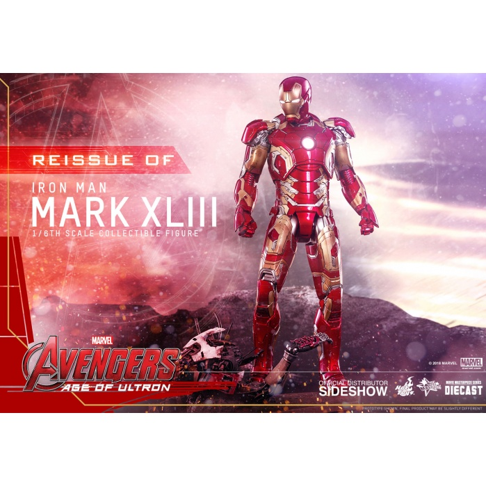 Marvel: Avengers AoU - Die-Cast Iron Man Mark XLIII 1/6 Scale Hot Toys Product