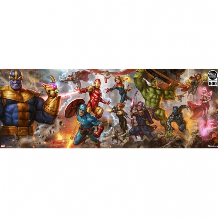 Marvel: Avengers - Earth's Mightiest Heroes Unframed Art Print Sideshow Collectibles Product