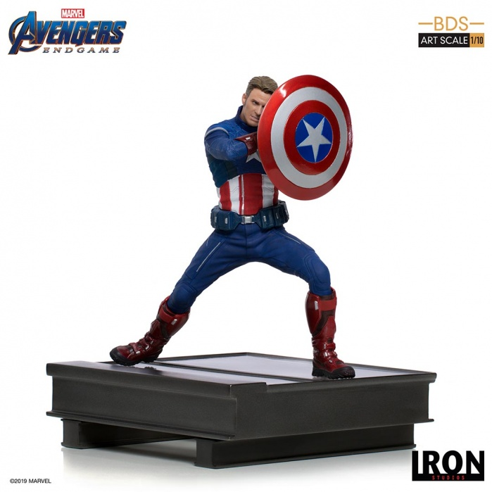 Marvel: Avengers Endgame - Captain America 2023 1:10 Scale Statue Iron Studios Product