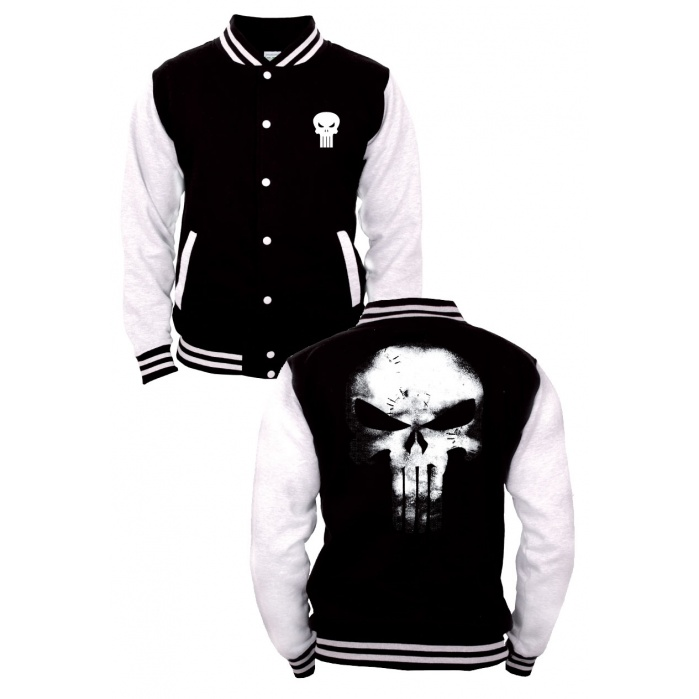 Marvel Comics Baseball Varsity Jacket Punisher Logo Codi Product