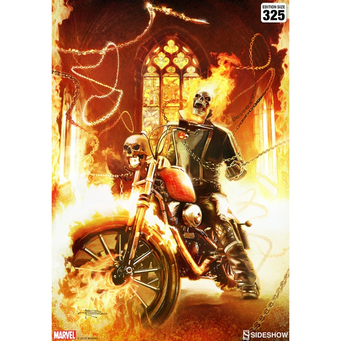 Marvel: Ghost Rider Unframed Art Print Sideshow Collectibles Product