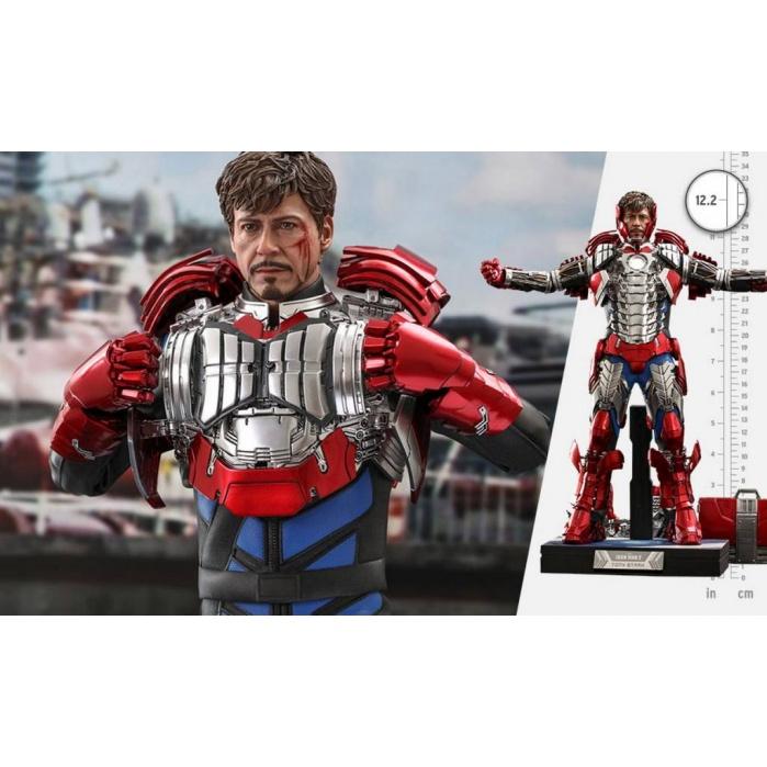 Marvel: Iron Man 2 - Tony Stark Mark V Up Version Deluxe 1:6 Scale Figure Hot Toys Product
