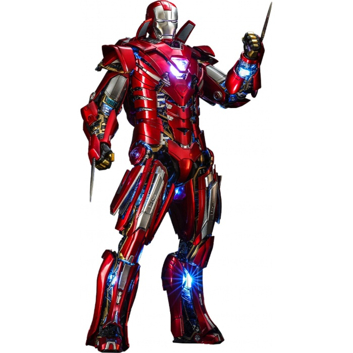 Marvel: Iron Man 3 - Silver Centurion Armor Suit Up Version 1:6 Scale Figure Hot Toys Product