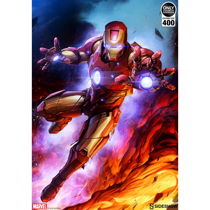 Marvel: Iron Man Custom Edition #1 Unframed Art Print Sideshow Collectibles Product