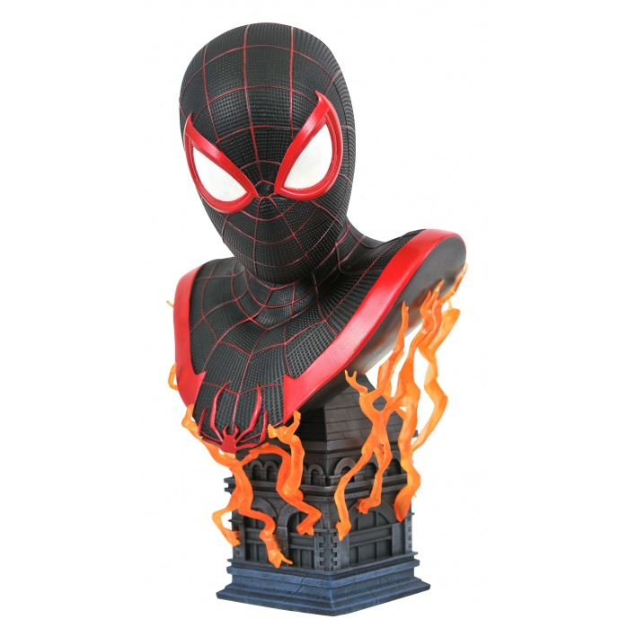 Marvel: Legends in 3D - Miles Morales Game 1:2 Scale Bust Diamond Select Toys Product