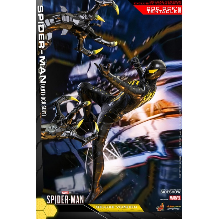 Marvel: Spider-Man Game - Deluxe Spider-Man Anti-Ock Suit 1:6 Scale Figure Hot Toys Product