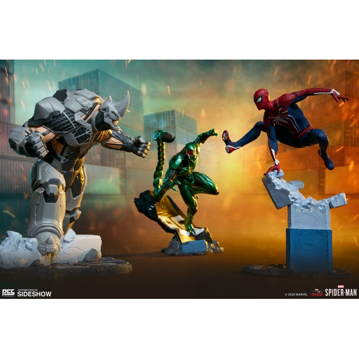 Marvel: Spider-Man Game - Spider-Man with Rhino and Scorpion 1:12 Scale Statue Set Pop Culture Shock Product