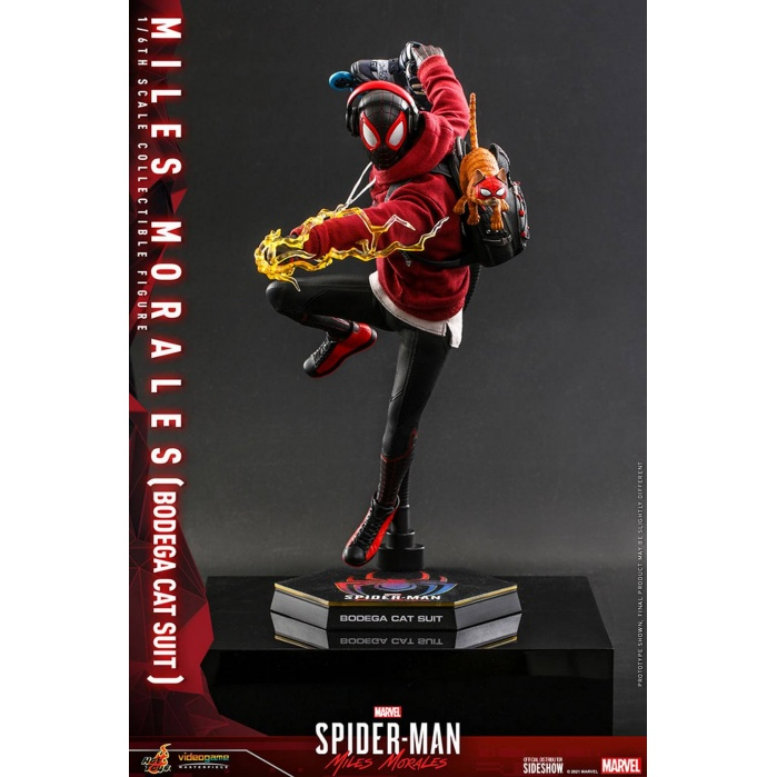 Marvel: Spider-Man Miles Morales Game - Miles Morales Bodega Cat Suit 1:6 Scale Figure Hot Toys Product