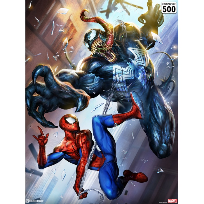 Marvel: Spider-Man vs Venom Unframed Art Print Sideshow Collectibles Product