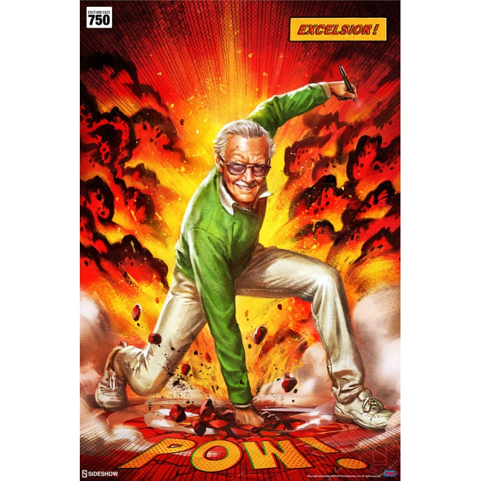 Marvel: Stan Lee Excelsior Unframed Art Print Sideshow Collectibles Product