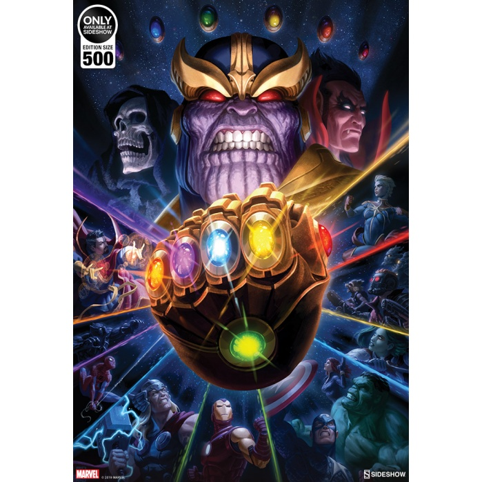 Marvel: Thanos and Infinity Gauntlet Unframed Art Print Sideshow Collectibles Product