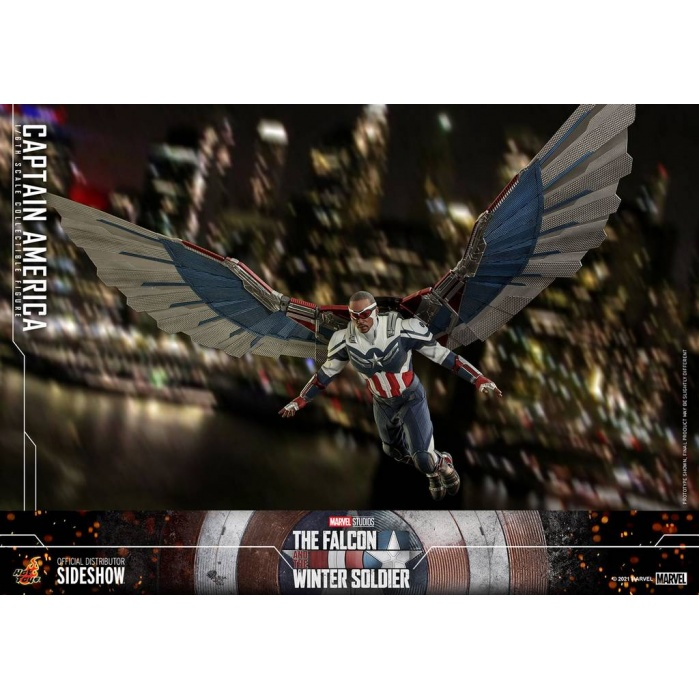 Marvel: The Falcon and the Winter Soldier - Captain America 1:6 Scale Figure Hot Toys Product