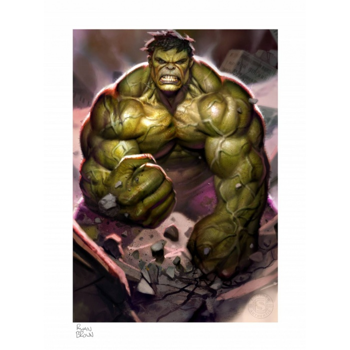 Marvel: The Incredible Hulk Unframed Art Print Sideshow Collectibles Product
