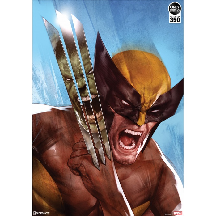 Marvel: The Incredible Hulk vs Wolverine Unframed Art Print Sideshow Collectibles Product