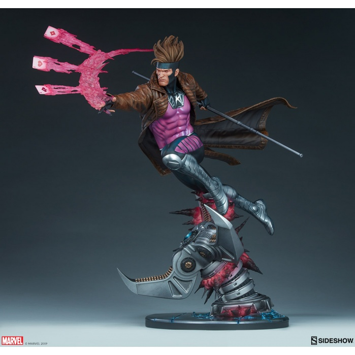 Marvel: X-Men - Gambit Maquette Sideshow Collectibles Product