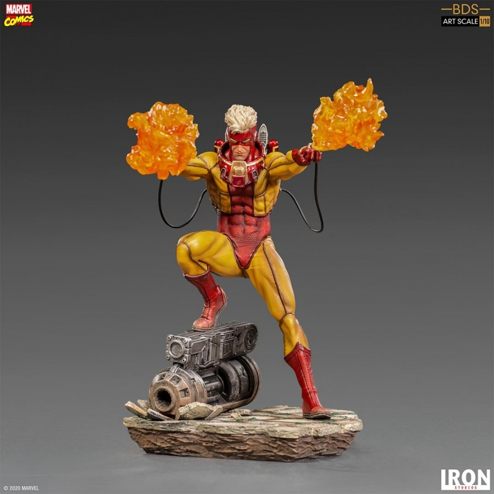 Marvel: X-Men - Pyro 1:10 Scale Statue Iron Studios Product