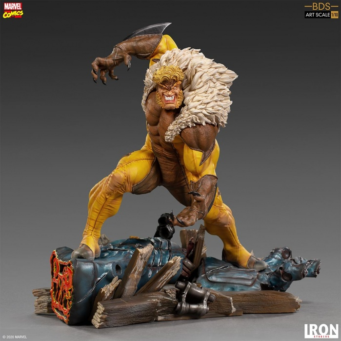 Marvel: X-Men - Sabretooth 1:10 Scale Statue Iron Studios Product