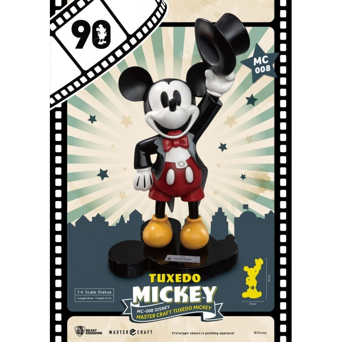 Mickey Mouse Statue 1/4 Tuxedo 90th Anniversary Beast Kingdom Product