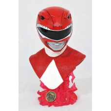 Mighty Morphin Power Rangers: Legends in 3D - Red Ranger 1:2 Scale Bust | Diamond Select Toys