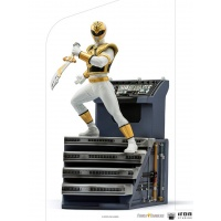 Mighty Morphin Power Rangers: White Ranger 1:10 Scale Statue Iron Studios Product