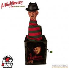 Nightmare On Elm Street Freddy Burst-A-Box Music Box   Mezco Toyz