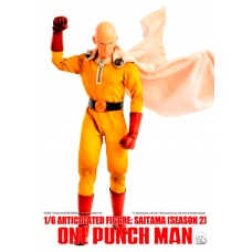 One-Punch Man: Deluxe Saitama Season 2 - 1:6 Scale Action Figure | threeA