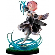 Re:Zero Starting Life in Another World: Ram Battle with Roswaal Version 1:7 Scale PVC Statue   Goodsmile Company
