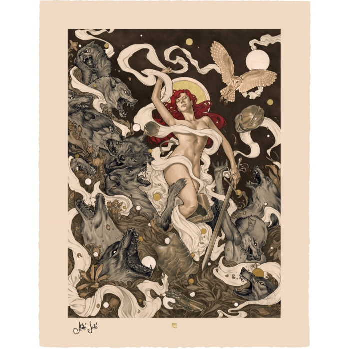 Red Riding Hood: Red Unframed Art Print Sideshow Collectibles Product