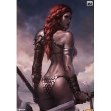 Red Sonja: Birth of the She-Devil Pre-Battle Version Unframed Art Print - Sideshow Collectibles (EU)