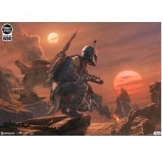 Star Wars: Mythos - Boba Fett: Dead or Alive Unframed Art Print Sideshow Collectibles Product Image